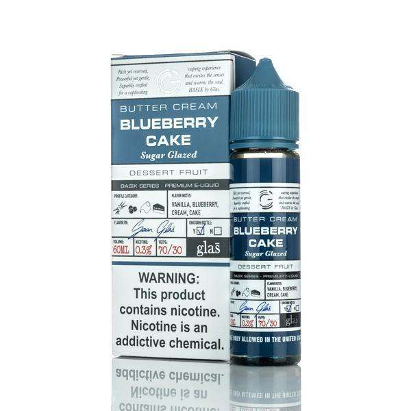 Glas E Liquid E Liquid 0mg Glas Basix E-Liquid - Blueberry Cake - 60ml