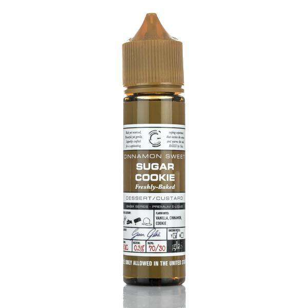 Glas E Liquid E Liquid 0mg Glas Basix E-Liquid - Cinnamon Sweet Sugar Cookie - 60ml