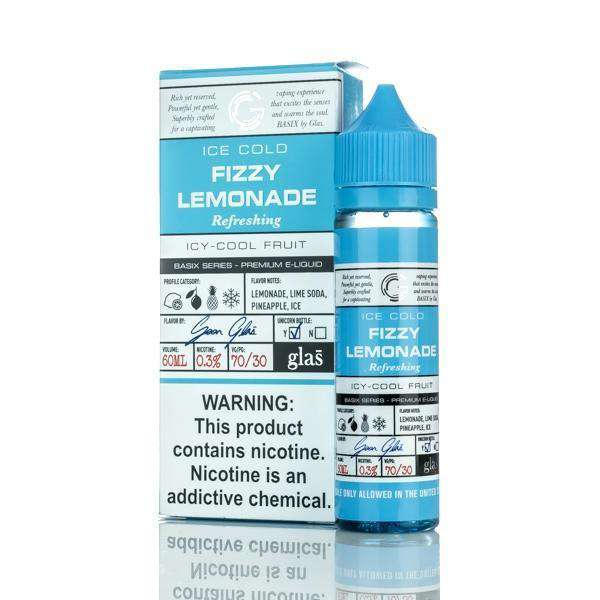 Glas E Liquid E Liquid 0mg Glas Basix E-Liquid - Fizzy Lemonade - 60ml