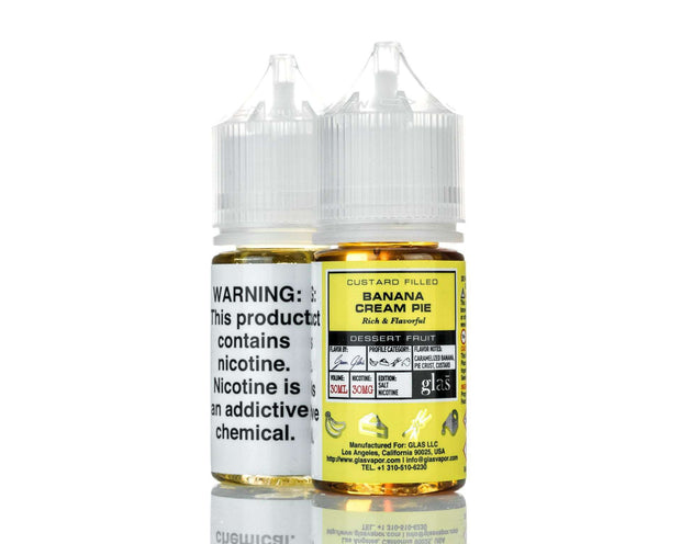 Glas E Liquid Nicotine Salt E Liquid 30mg Glas Basix Salt Nic E-Liquid - Banana Cream Pie - 30ml