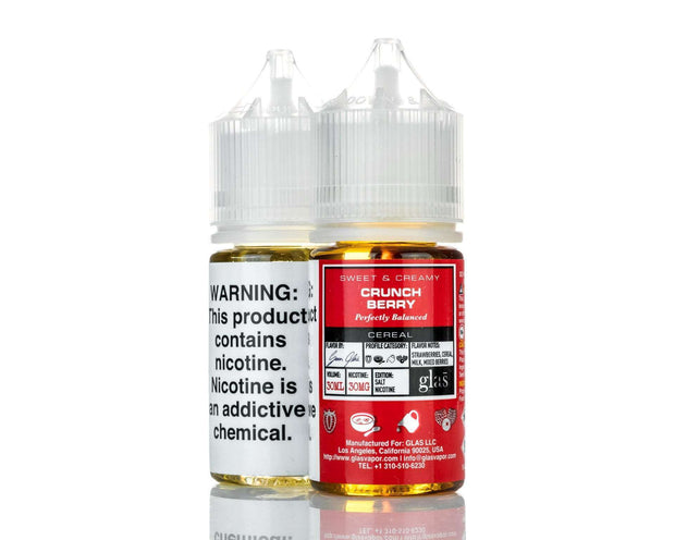 Glas E Liquid Nicotine Salt E Liquid 30mg Glas Basix Salt Nic E-Liquid - Crunch Berry - 30ml