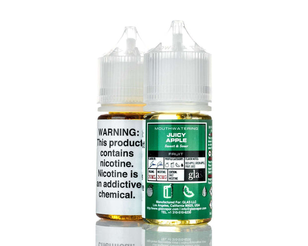 Glas E Liquid Nicotine Salt E Liquid 30mg Glas Basix Salt Nic E-Liquid - Juicy Apple - 30ml