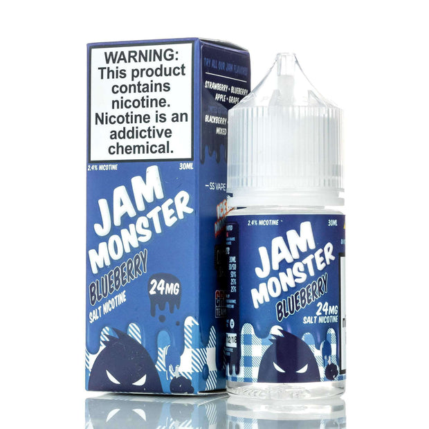 Jam Monster E-Liquid Nicotine Salt E Liquid 24mg Jam Monster Salts - Blueberry Jam - 30ml