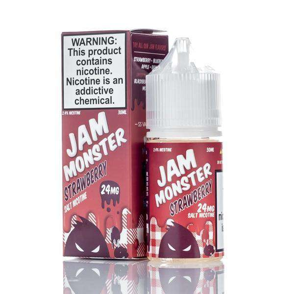 Jam Monster E-Liquid Nicotine Salt E Liquid 24mg Jam Monster Salts - Strawberry Jam - 30ml