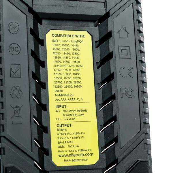 Nitecore Accessory Default Title Nitecore SC2 Superb 3A Battery Quick Charger - Two Bay