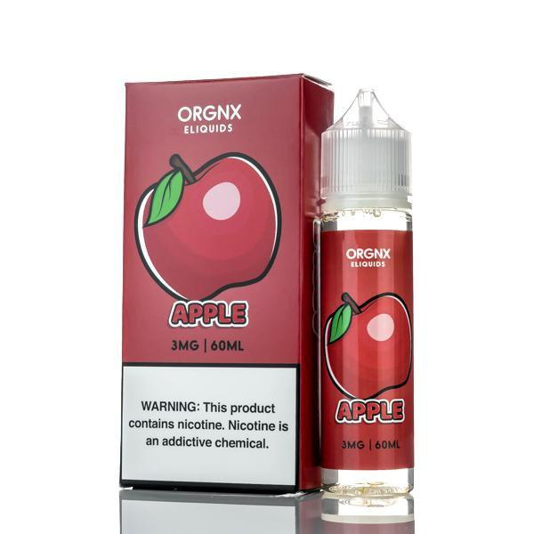 Orgnx E-Liquid E Liquid 0mg Orgnx E-Liquid - Apple - 60ml