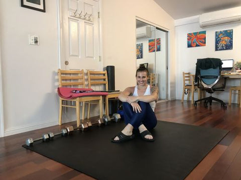 Exercise mats for home gym workout
