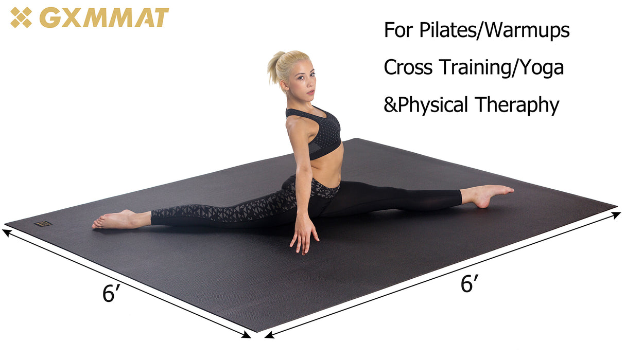 Large Yoga Mat with barefoot 6'x6' - GXMMAT