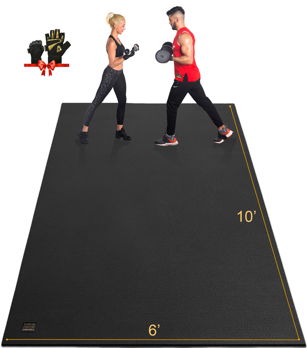 Large Exercise Mat for cardio 6'x10' - GXMMAT