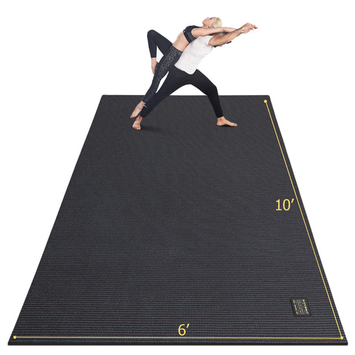 Large Yoga Mat with barefoot 6'x10' - GXMMAT