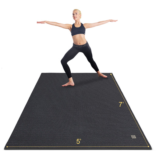 Large Yoga Mat with barefoot 7'x5',9mm thick - GXMMAT