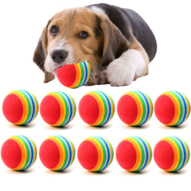 10PC/Lot Mini Small Dog Toys For Pets Dogs Chew Ball Puppy Dog Ball