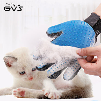 Pet Silicone Deshedding Brush Glove For Pet Cleaning Massage Grooming