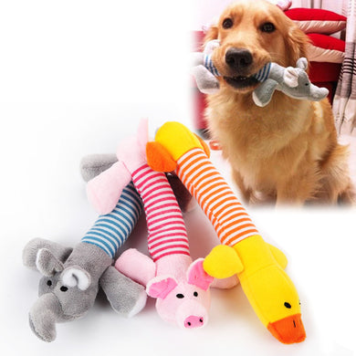 Dog Cat Pet Chew Toys Canvas Durability Vocalization Dolls Bite Toys for Dog
