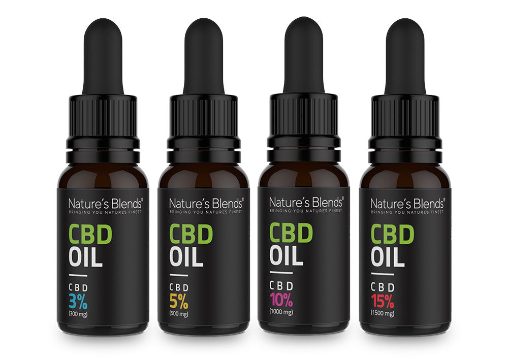 CBD range of oils and strength
