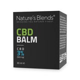 A 30ml packaging container of 900mg hemp cbd balm by natures blends