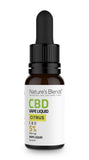 A 10ml bottle of 500mg cbd vape citrus flavour