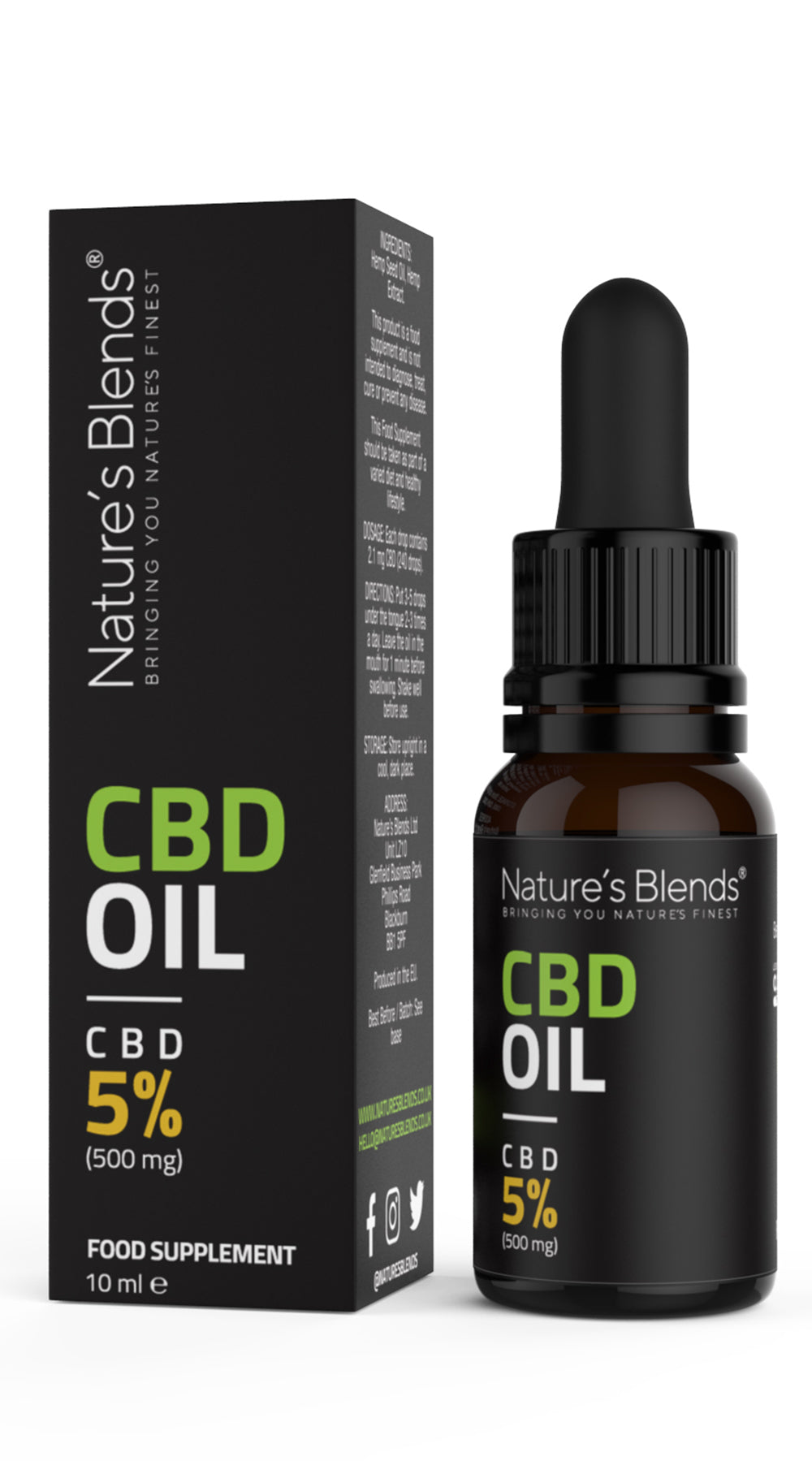 CBD OIL DROPS 5% | 500mg | 10ml