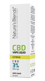 A citrus flavour 300mg cbd vape packaging by natures blends
