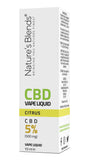 A citrus flavour 500mg cbd vape packaging by natures blends
