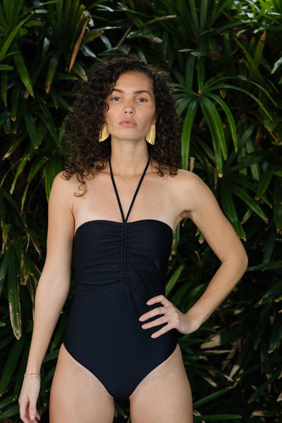 Heather One Piece - Black