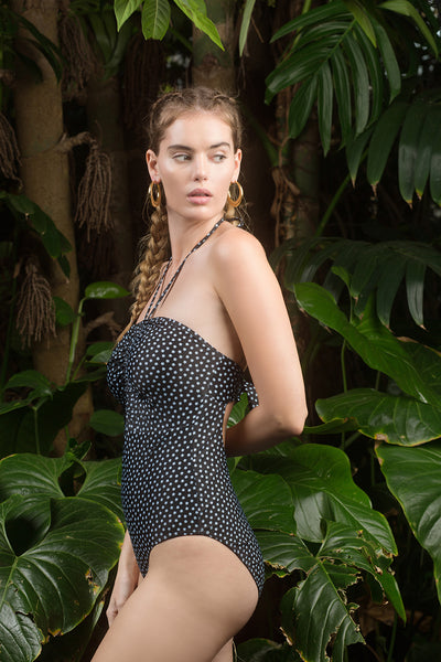 Heather One Piece - Stella Print in Black