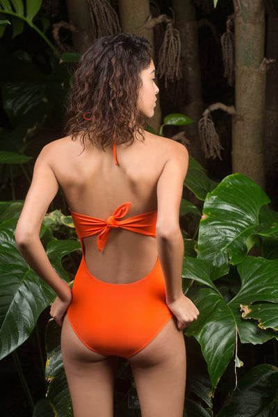 Heather One Piece - Fire Coral