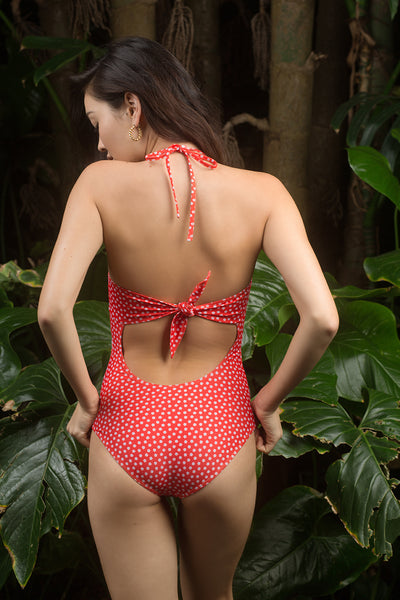 Heather One Piece - Stella Print in Hibiscus