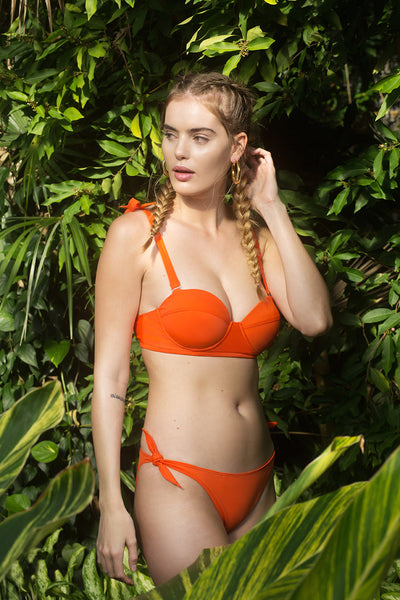 Becky Top - Fire Coral