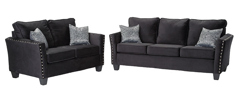 Living Room Black Sofa Set
