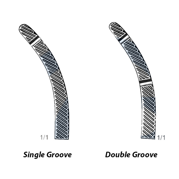 Single or Double Groove Option with Heaney Forceps