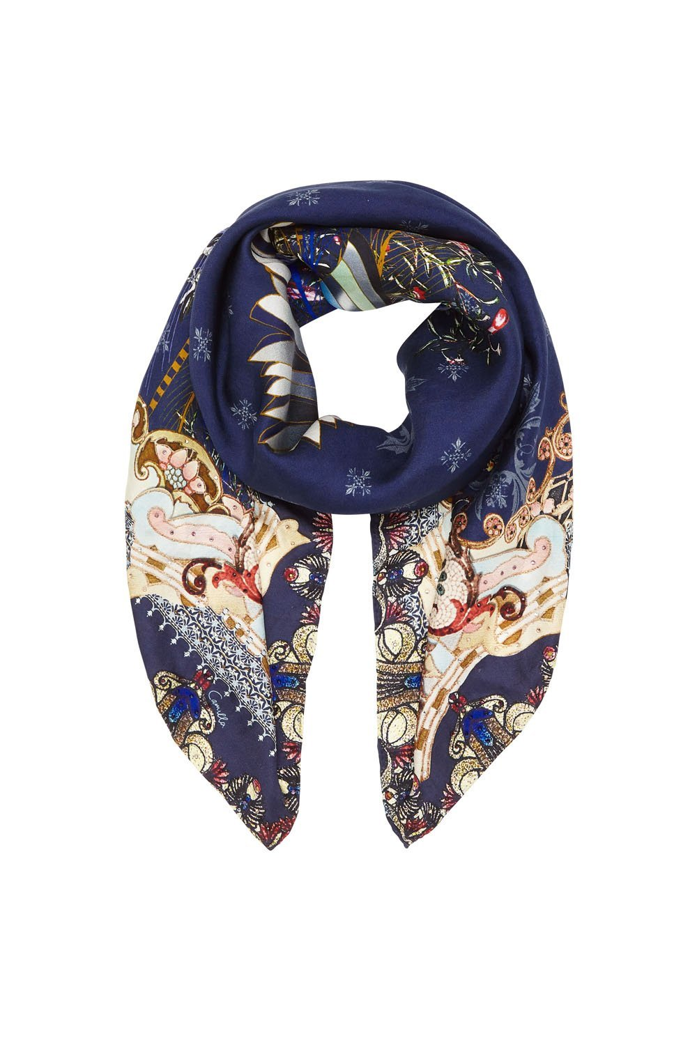 LARGE SQUARE SCARF SOUTHERN TWILIGHT