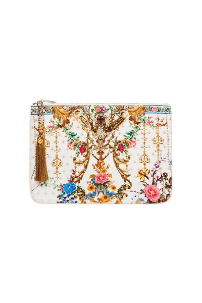 SMALL CANVAS CLUTCH BY THE MEADOW