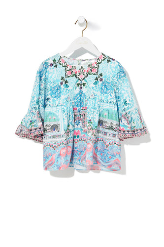 LOVERS RETREAT KIDS BELL SLEEVE TOP