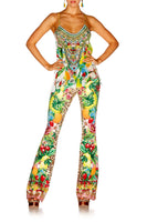 COOL CAT HIGH WAISTED FLARED TROUSER