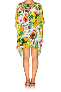 THERES NO PLACE LIKE RIO SHORT ROUND NECK KAFTAN