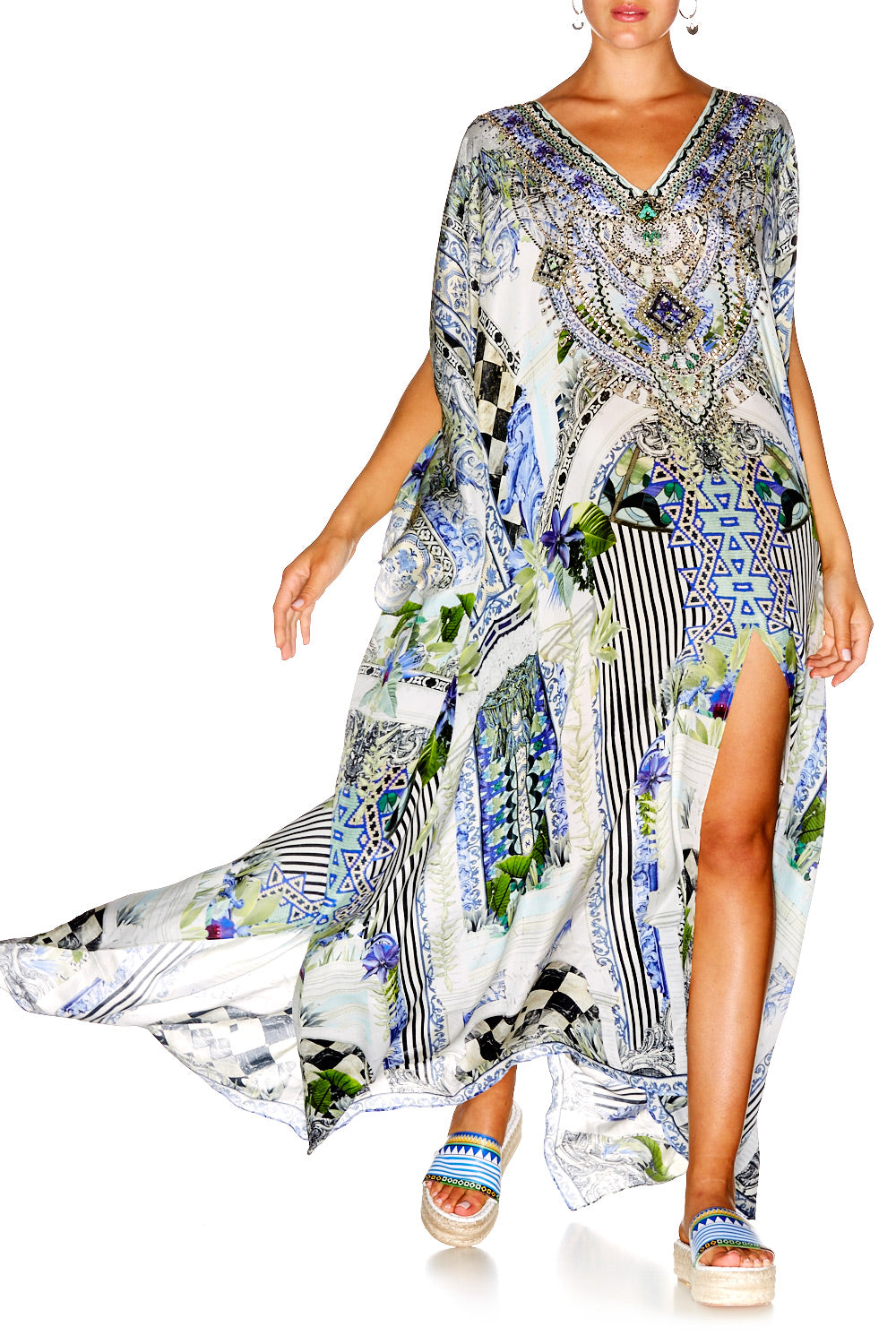 THE SWEET ESCAPE SLIT FRONT & SLEEVE KAFTAN