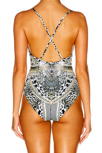 ANIMAL INSTINCT V-NECK ONE PIECE