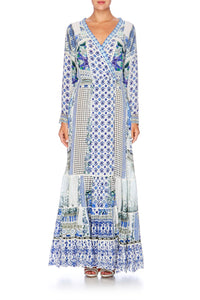 SALVADOR SUMMER CROSS FRONT MAXI DRESS