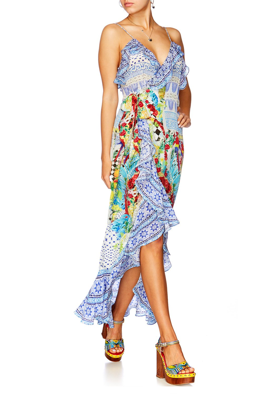 MASKING MADNESS FRILL DRESS WITH LONG BACK