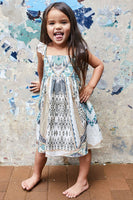 WEAVE ON KIDS FRILL STRAP DRESS