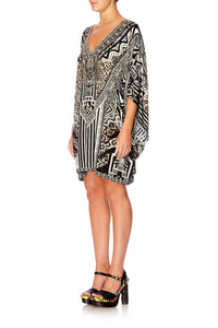 TRIBAL THEORY BAT SLEEVE DRESS