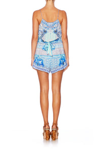 CAMILLA DAY DREAMER SHOESTRING STRAP PLAYSUIT