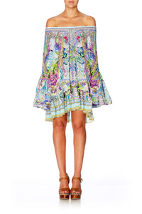 CAMILLA SALVADOR FIELDS FOREVER A LINE FRILL DRESS