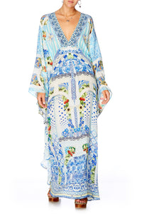 CAMILLA A NIGHT TO REMEMBER LONG KAFTAN WITH WAIST TAB