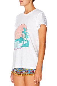 COPACABANA SLIM FIT ROUND NECK T-SHIRT