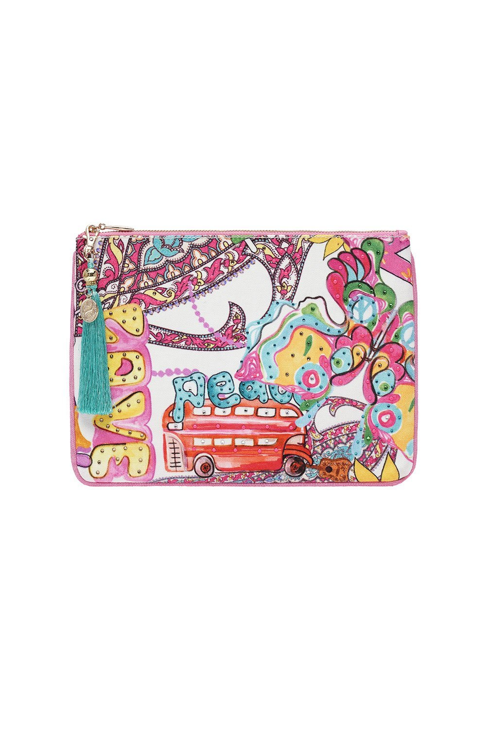 SMALL CANVAS CLUTCH LET THE SUN SHINE