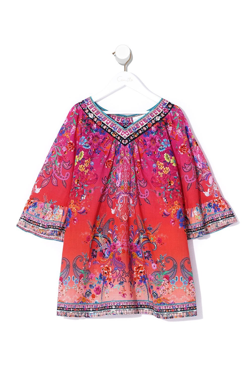 KIDS YOKE TOP DRESS FREE LOVE