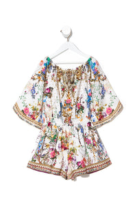 KIDS 3/4 FLARE SLEEVE PLAYSUIT 12-14 BY THE MEADOW