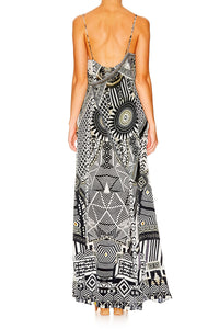 HANGING AROUND ASYMMETRICAL HALTER DRESS